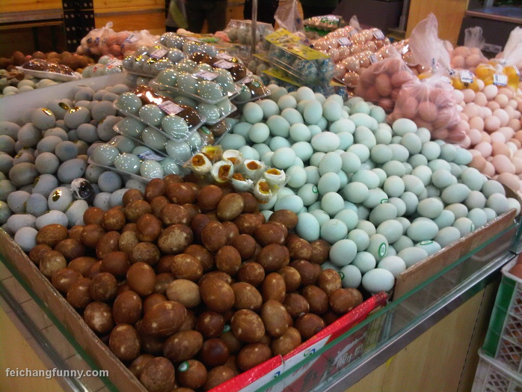 non refrigerated rotten Chinese eggs